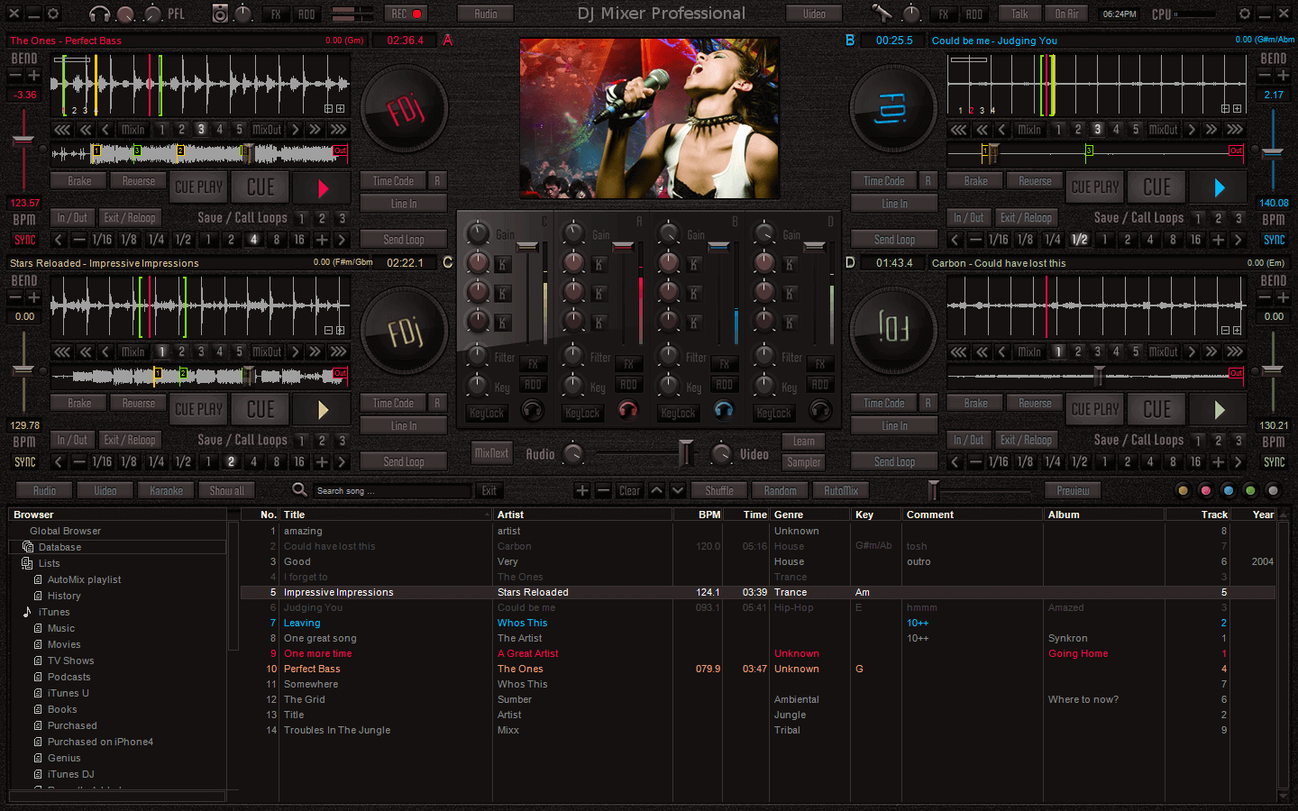DJ Mixer Express, Easy DJ Mixing software for Mac & Windows