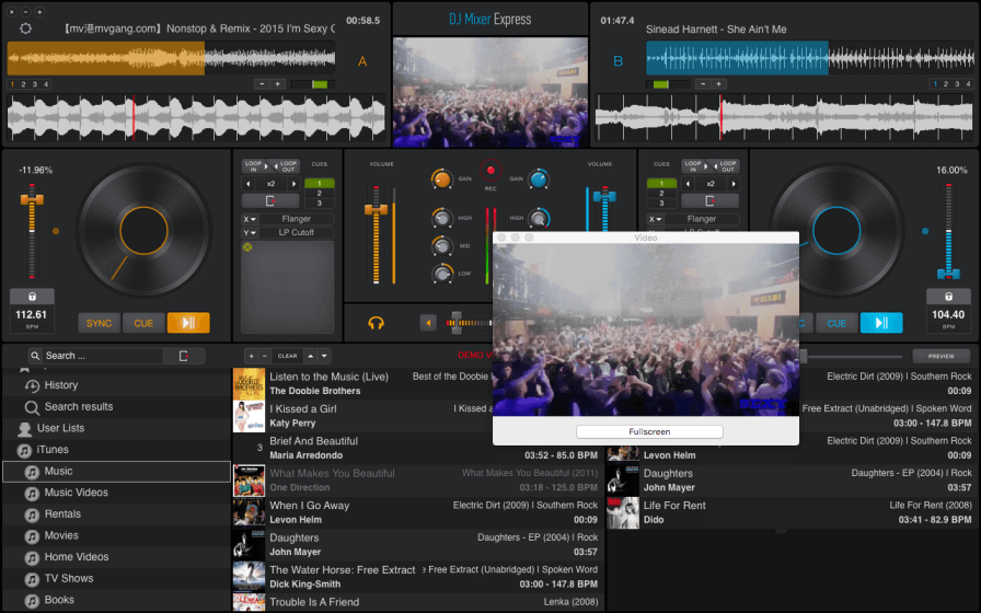 Affordable DJ mixing software for Mac OS X.