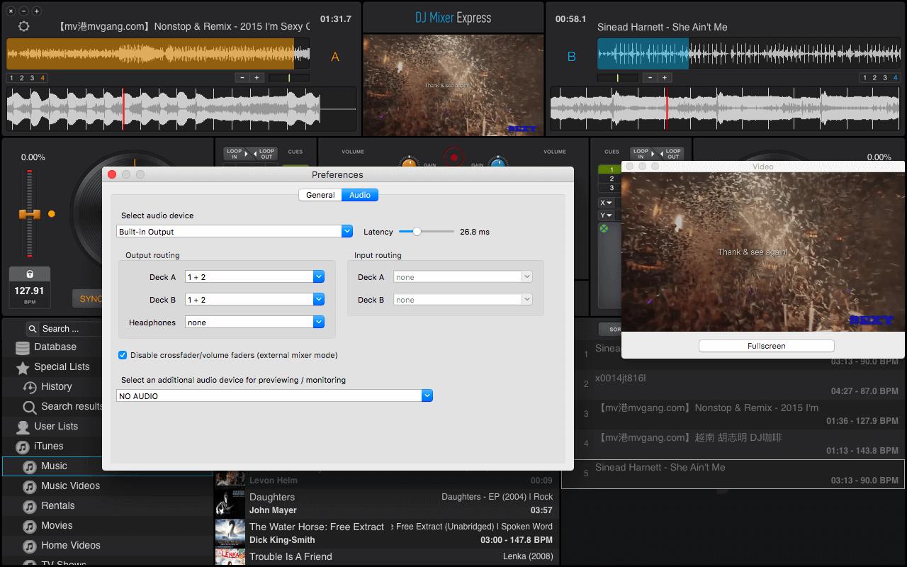 DJ Mixer Express, Easy DJ Mixing software for Mac & Windows
